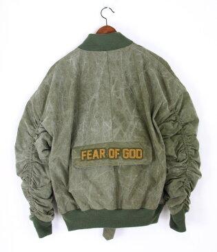 FEAR OF GOD×READYMADE/フィアーオブゴッド×レディーメイド The Military Bomber ミリタリーボンバージャケット サイズ:1 カラー:ミリタリーグリーン【中古】【古着】【USED】【180430】【未yast01】