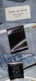 FEAROFGOD/フィアーオブゴッド4th初期加工オーバーサイズデニムジャケットDENIMRAGLANTRUCKERJACKETサイズ:Sカラー:ブルー