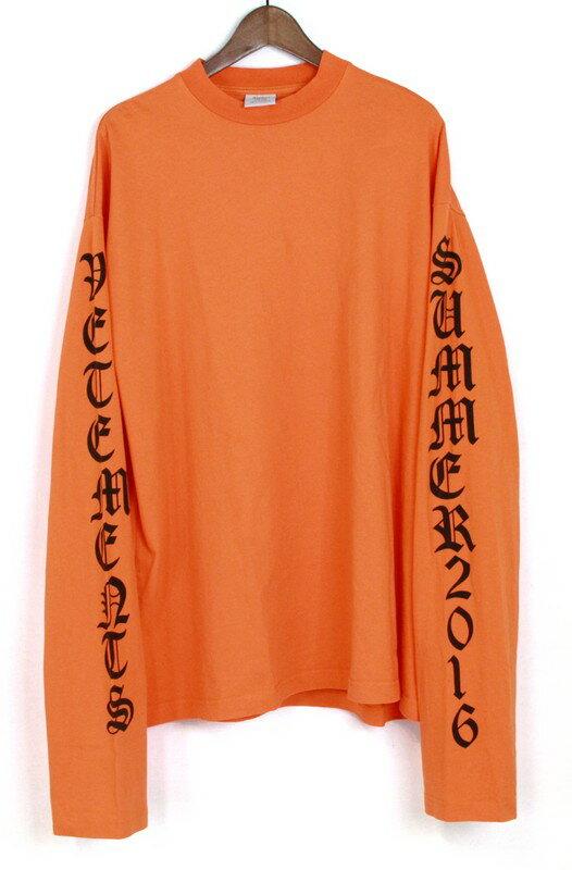 VETEMENTS/ヴェトモン 16SS オーバーサイズカットソー サイズ:S カラー:オレンジ【中古】【古着】【USED】【160620】s7 ya:select7