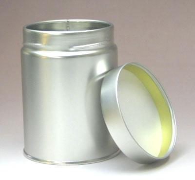スクリュー缶 Cタイプ(直径7.6cm×高さ10.2cm) シルバーの写真