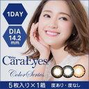 1day CaraEyes ColorSeries(ワンデーキャラアイ カラーシリーズ)/瞳をくっきり見せるサイズ。(度あり 度なし/5枚入り)