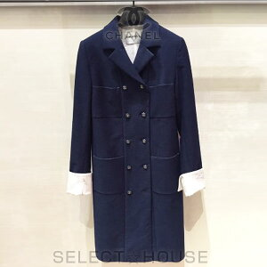 [Used/Used] Chanel Coat [Free Shipping] [SELECT HOUSE ☆ Select House] [YDKG-k] [smtb-k] [W3] 16P Spring/Summer Chanel Cuffs CHANEL Written BOOK Coat Dress