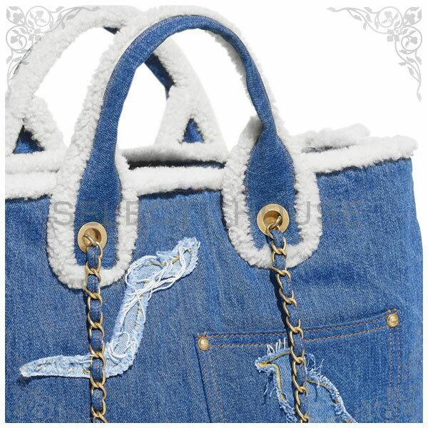 CHANEL シャネル ショッピング バッグ【19A】【SELECTHOUSE☆セレクトハウス】ブルー ハンドバッグ トートバッグ