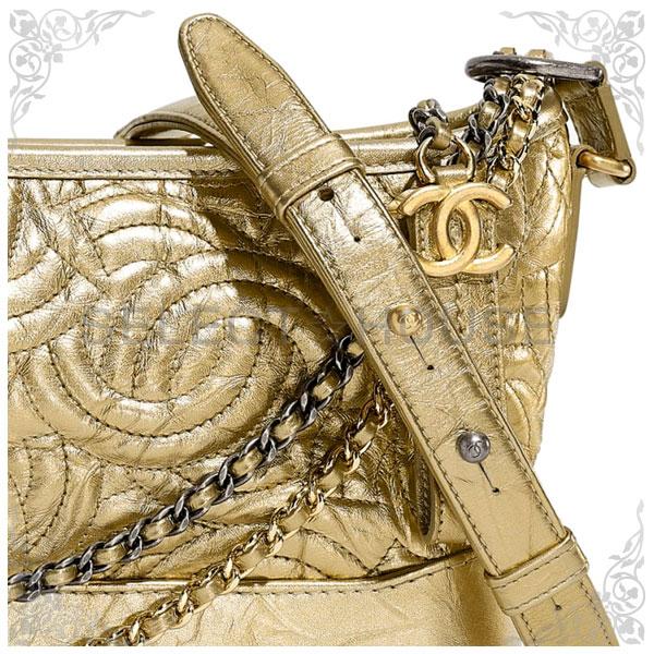 CHANEL シャネル ガブリエル ドゥ シャネル スモール ホーボー バッグ【19A】【SELECTHOUSE☆セレクトハウス】ゴールド バッグ ハンドバッグ