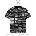 【19A】LOUIS VUITTON ルイ・ヴィトン オールオーバーロゴプリンテッドTシャツ【SELECTHOUSE☆セレクトハウス】メンズ トップス
