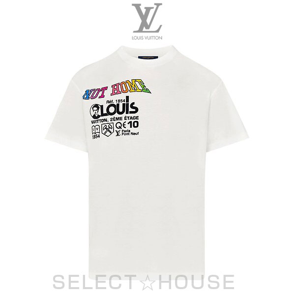 【19SS】LOUIS VUITTON ルイ・ヴィトン カンザスウィンドプリントTシャツ【SELECTHOUSE☆セレクトハウス】トップス