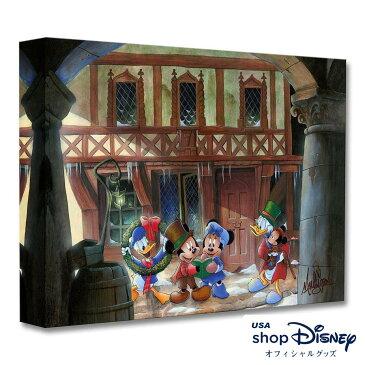 お取り寄せ ディズニー Disney US公式 ミッキーマウス フレンズ クリスマス アートパネル James C. Mulligan