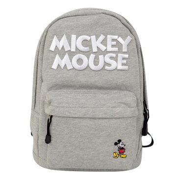 ディズニー Disney ミッキーマウス 刺繍ロゴ スウェットリュック イーカム E-Come 杢グレー ギフト プレゼント 即日発送可