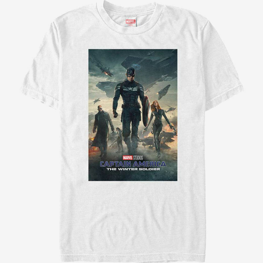 トップス, Tシャツ・カットソー  T Marvel Captain America Winter Soldier Poster T-Shirt