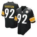 お取り寄せ NFL スティーラーズ ジェイムス・ハリソン ユニフォーム ブラック ナイキ Game ユニフォーム