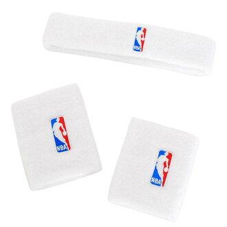 NBA 護腕 + 頭帶阿迪達斯 /Adidas 白色