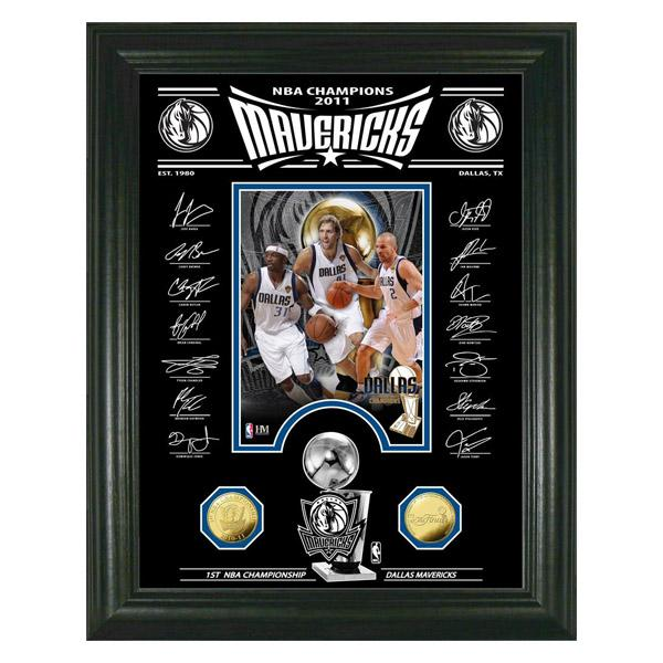 スポーツ・アウトドア, その他 NBA 2011 NBA Champions Signature Etched Glass Photo Mint1910