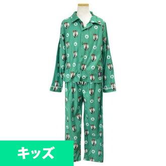 NBA 塞爾特人隊孩子睡衣設置綠色十字章 UNK 睡衣組