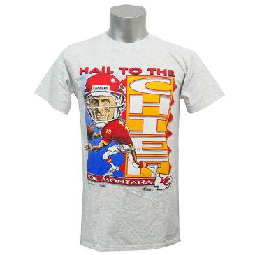 NFL チーフス ジョー・モンタナ 1993 ヘイル・トゥ・ザ・チーフ Tシャツ セーラム/Salem グレー レアアイテム
