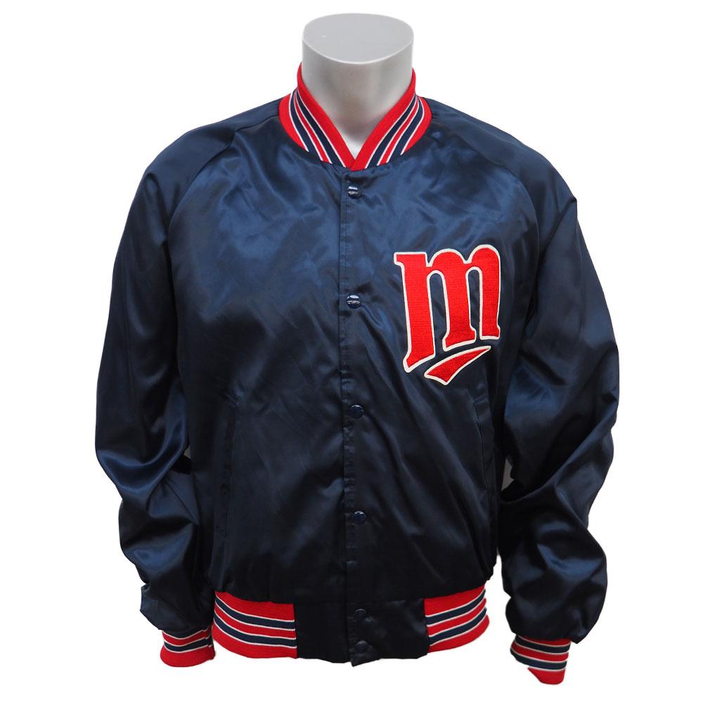 MLB ツインズ オーセンティック サテンジャケット Chalk Line ネイビー:メジャーアメフト即納店SELECTION