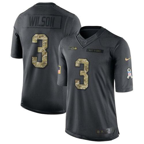 NFL シーホークス ラッセル・ウィルソン 2016 Salute to Service リミテッド ユニフォーム ナイキ/...