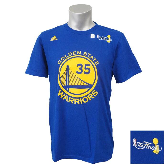 NBA ウォリアーズ ケビン・デュラント 2017 ファイナル優勝記念 レプリカ ネーム&ナンバー Tシャツ アディダス/Adidas【1808NBA】【181001セール解除】