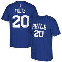 NBA 76ers マーケル・フルツ Tシャツ ネット ナンバー アディダス/Adidas ブルー