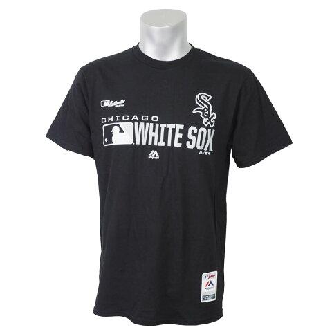 リニューアル記念メガセール MLB ホワイトソックス Tシャツ 2019 オーセンティックSS マジェスティック/Majestic ブラック
