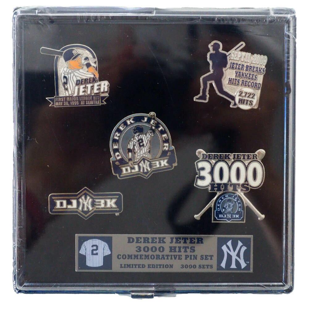 メンズジュエリー・アクセサリー, その他 MLB Derek Jeter 3000 Hits Commemorative 5 Pin Set Aminco