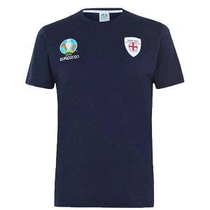 イングランド代表 Tシャツ メンズ カットソー 半袖 ネイビー EURO2020【OCSL】