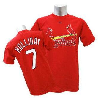 MLB Cardinals # 7 Matt Holliday's Majestic Player t-shirt (red)
