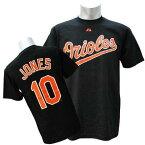 MLB オリオールズ アダム・ジョーンズ Tシャツ ブラック マジェスティック Player Tシャツ