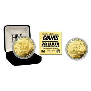 【予約】NFLニューヨーク・ジャイアンツ2011NFCChampions24KTゴールドコインTheHighlandMint