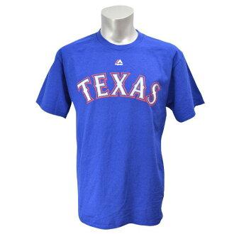 Majestic MLB Texas Rangers Wordmark tee shirts (blue /Texas)