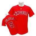 リニューアル記念メガセール MLB エンゼルス アルバート・プホルス Tシャツ レッド マジェスティック Player Tシャツ