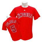 MLB エンゼルス アルバート・プホルス Tシャツ レッド マジェスティック Player Tシャツ