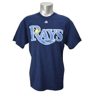 MLBWordmarkTシャツ タンパベイレイズ(ネイビー)byMajestic