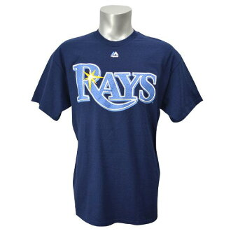 Majestic MLB Tampa Bay rays Wordmark t-shirt (Navy)