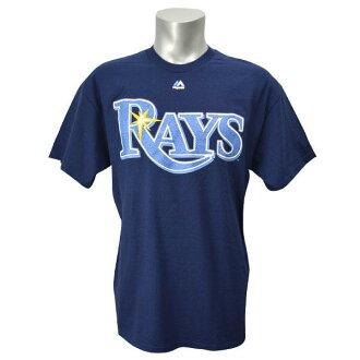 Majestic MLB Tampa Bay rays Wordmark t-shirt (Navy)