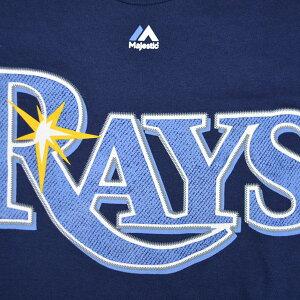 【即日発送可】MLBタンパベイ・レイズNewWordmarkTシャツ(ネイビー)Majestic【あす楽対応】【メジャーリーグ】
