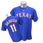 MLB レンジャーズ ダルビッシュ有 Tシャツ ブルー マジェスティック Player Tシャツ