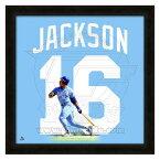 お取り寄せ MLB ロイヤルズ ボー・ジャクソン フォト ファイル/Photo File UNIFRAME 20 x 20 Framed Photographic【1910価格変更】