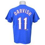 お取り寄せ MLB レンジャーズ ダルビッシュ有 Tシャツ ブルー マジェスティック Player Tシャツ JPN Ver New