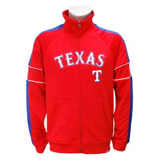 Majestic MLB Texas Rangers Home Field Advantage Full-Zip Track Jacket (red)