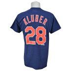 MLB インディアンス コーリー・クルーバー Tシャツ ネイビー マジェスティック Player Tシャツ