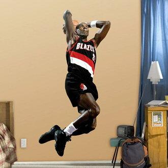 NBA Trail Blazers Clyde Drexler sticker Fathead Fathead Real Big
