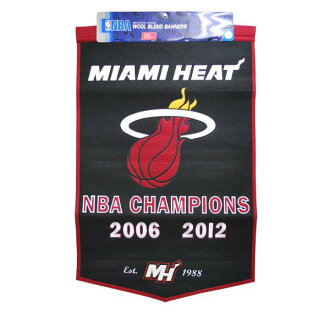 Miami Heat NBA Dynasty banners 24X38 Winning Streak