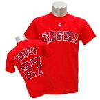 MLB エンゼルス マイク・トラウト Tシャツ レッド マジェスティック Player Tシャツ