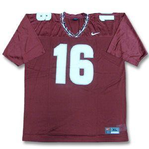 和 NCAA 佛羅里達州塞米諾族印地安 # 16 澤西栗色耐克 NCAA 副本足球球衣
