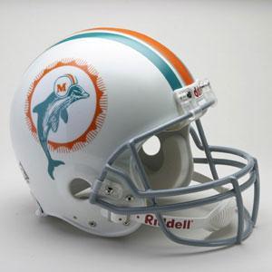 お取り寄せ NFL ドルフィンズ ヘルメット 72 リデル/Riddell Throwback Authentic On-Field Helmet