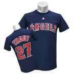MLB エンゼルス マイク・トラウト Tシャツ ネイビー マジェスティック Player Tシャツ