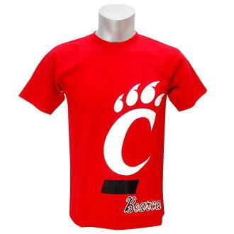 NCAA提高基本工資猫T恤紅Team Edition NCAA College Real Deal T恤