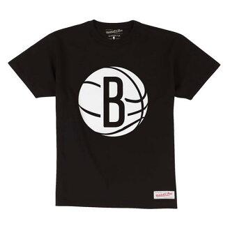 NBA Brooklyn Nets Current Logo T-shirt (black) Mitchell&Ness