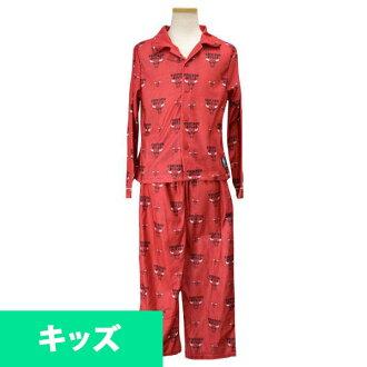 NBA 公牛隊孩子睡衣設置紅色十字章 UNK 睡衣組