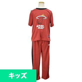 NBA 熱孩子睡衣設置紅色十字章 UNK 徽標睡衣組